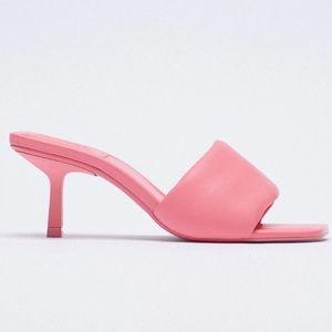 Zara padded Barbie pink sandals NWT